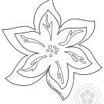 Six Point Flower template