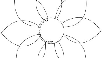 Simple flower outline image | flowers templates.