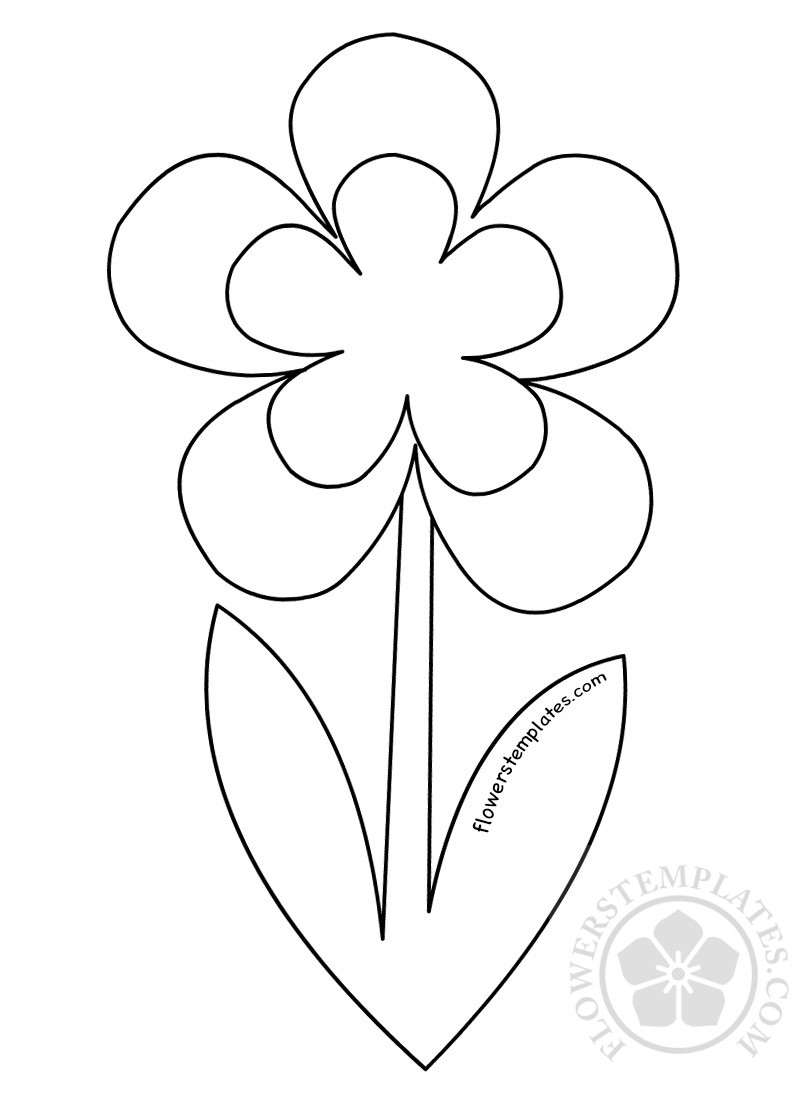 photograph relating to Printable Flower Pictures titled Printable Flower Stem Template Bouquets Templates