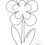 Printable Flower Stem Template
