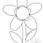 5 petal flower template