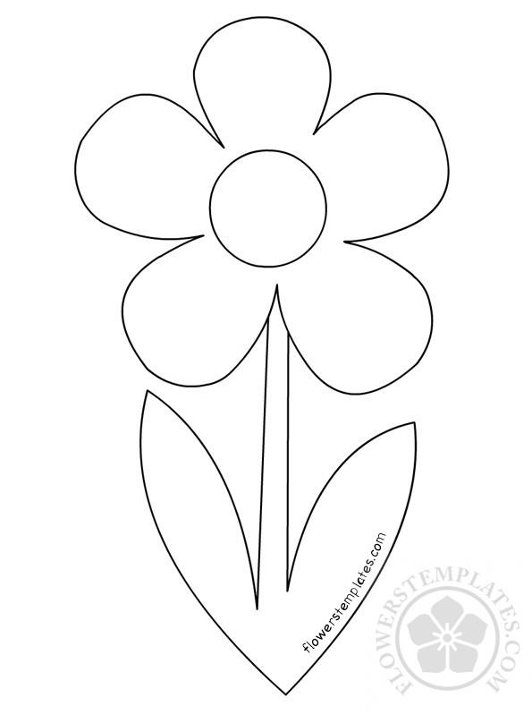Simple Flower Stem Template Flowers Templates