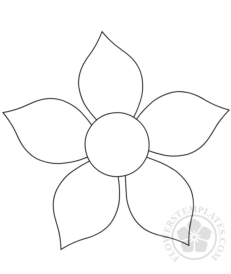 photo about Flower Printable known as Flower cutout printable Bouquets Templates