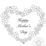 Mother's Day Flower Heart coloring page