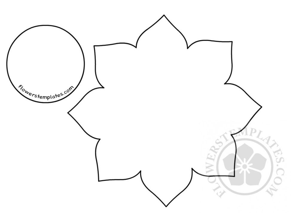 Paper Flower Craft Template Flowers Templates