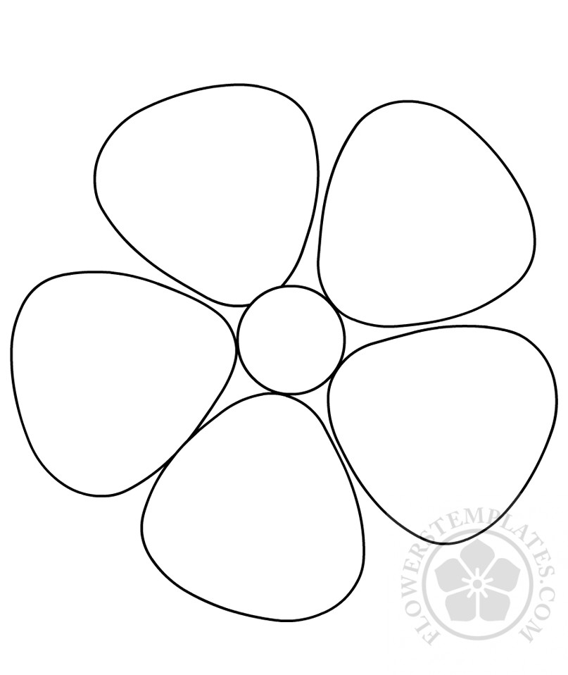 photo about Printable Flowers Templates identify Uncomplicated Printable Flower template Bouquets Templates
