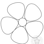 Simple Printable Flower template