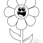 Happy Smiling Cartoon Flower