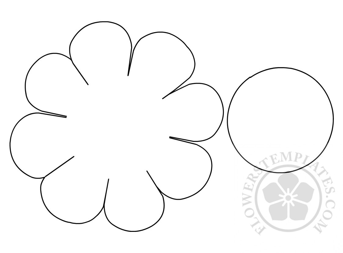 daisy cut out template