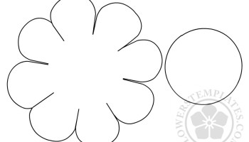 Daisy pattern cut out | Flowers Templates