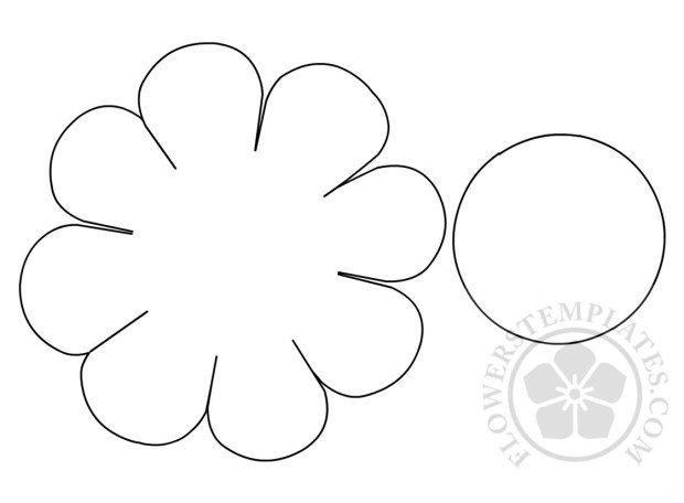Daisy cut out template flowers templates for Daisy cut out template