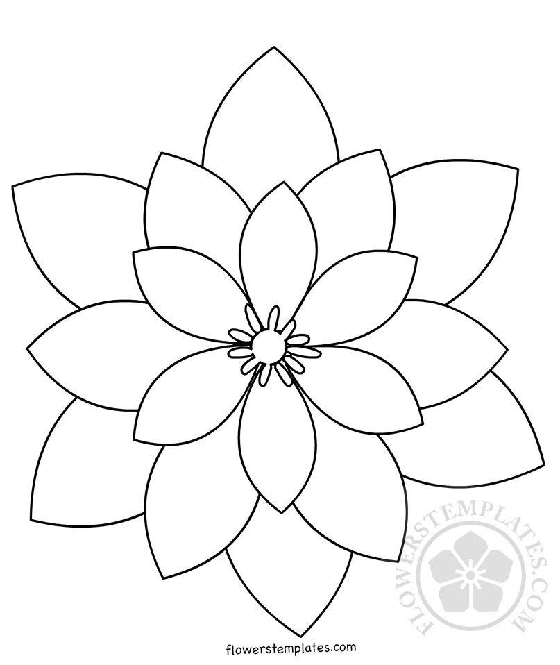 Geometric Flower Shape Flowers Templates