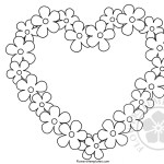 Flower border heart template