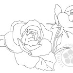 Roses Flower Coloring Pages