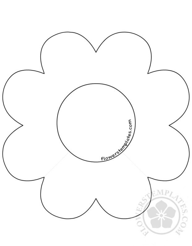 8 petal flower template flowers templates