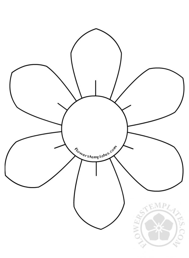 Flower Daisy 6 Petal Template Flowers Templates