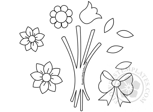 Flower Bouquet Shapes Mother S Day Crafts Flowers Templates