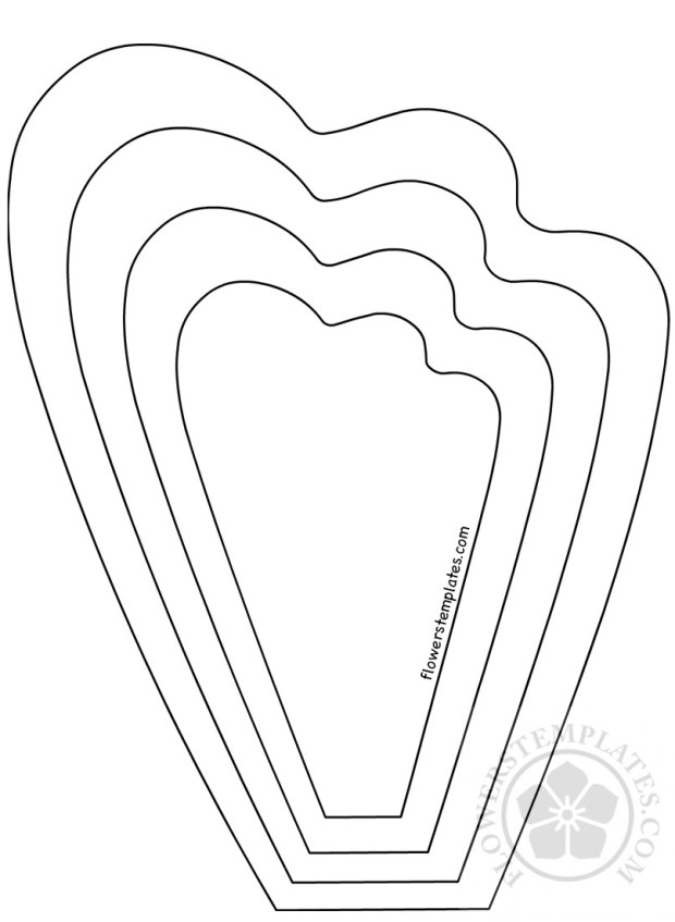 Flower petal template big paper flower flowers templates for Free printable paper flower templates
