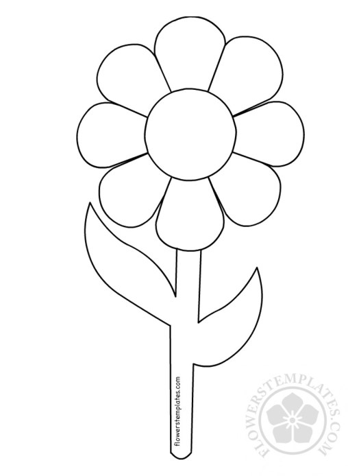 Flowers Templates Free Templates Shapes Pattern And