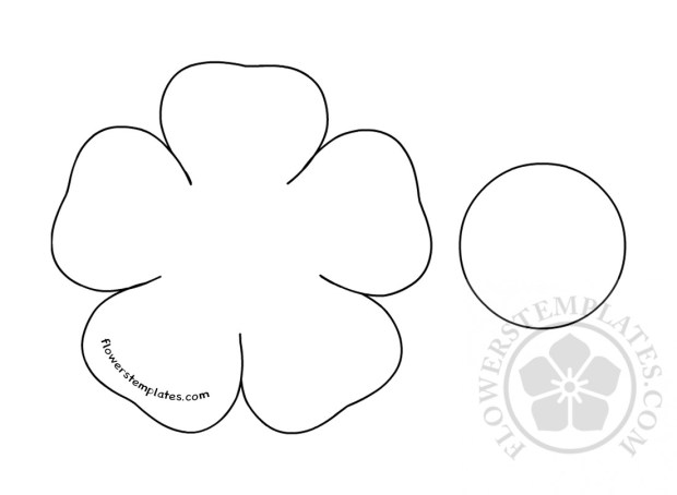 flower cut out printable