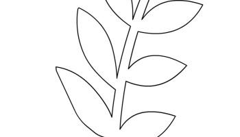 flower leaf template flowers templates