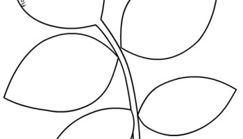 round tip vine leaf template flowers templates