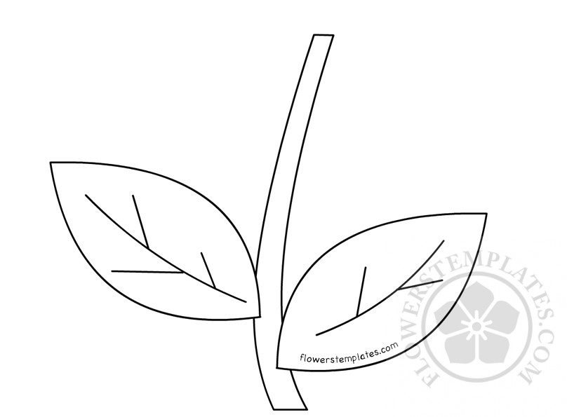 Flower stem template printable