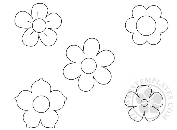 Small flowers template coloring page flowers templates small flowers template coloring page maxwellsz
