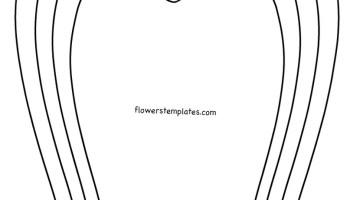 Flower shape diy spring flower flowers templates diy giant spring flower template mightylinksfo