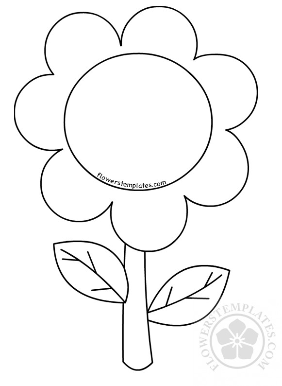 Flower Coloring Pages For Preschoolers Children | Flowers ...