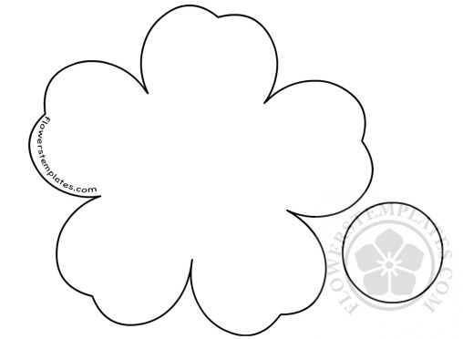 Flower template flowers templates flower shape diy spring flower mightylinksfo
