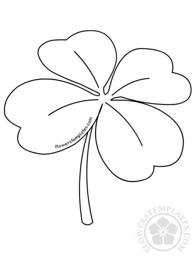 Four Leaf Pattern Coloring Page