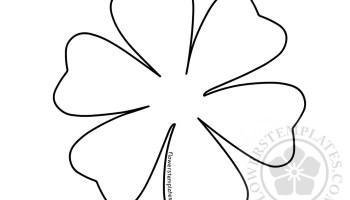 Easy flower templates felt flower flowers templates easy paper flower template maxwellsz