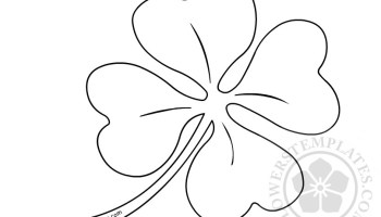 st patrick s day four leaf clover template flowers templates