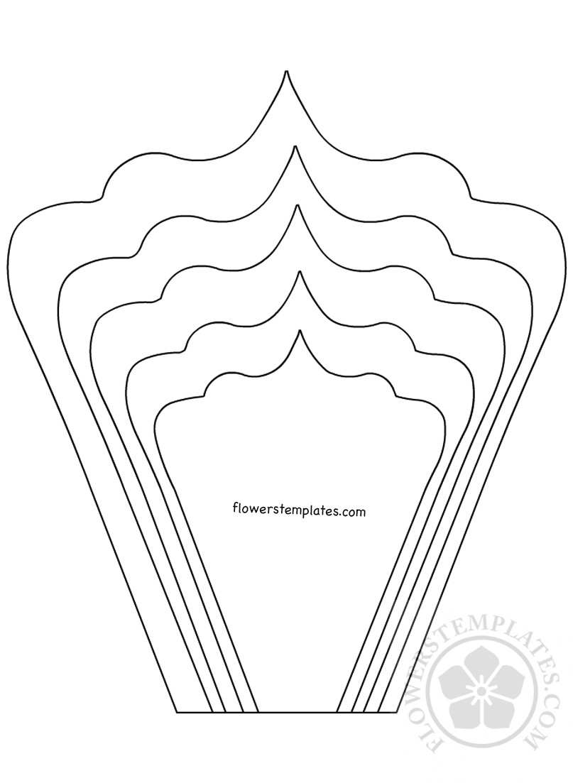 photo about Printable Flower Petal identified as Form petals printable Do it yourself Large paper bouquets Bouquets