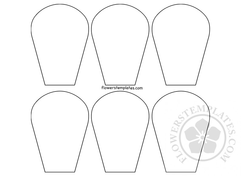 image relating to Daisy Templates Printable called 6 Petals Daisy Templates printable Bouquets Templates