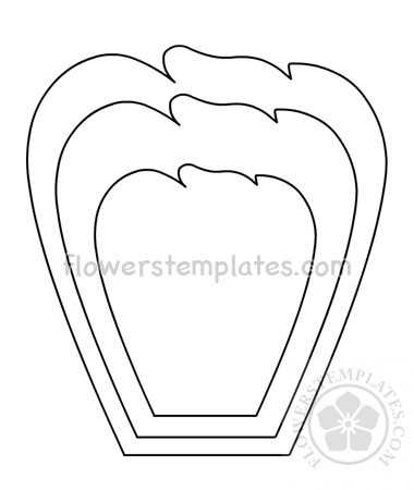 graphic about Printable Flower Petals named Printable Flower Petals -