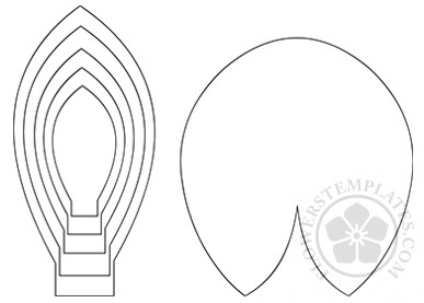 Paper Flower Water Lily Template Flowers Templates