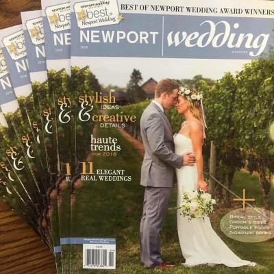 Flowerthyme Featured on the Cover of Newport Wedding Magazine