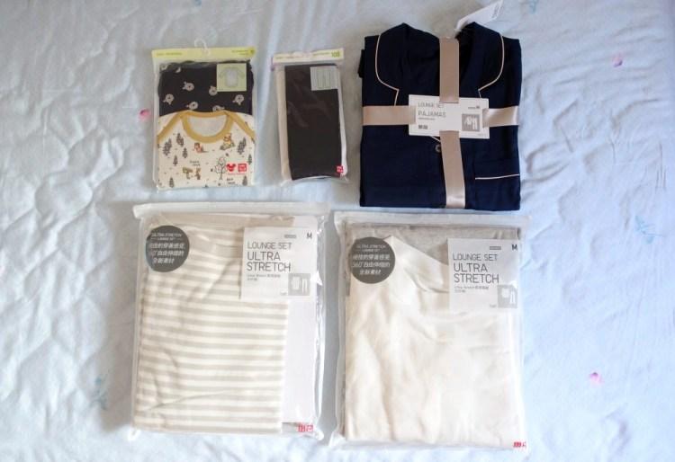 【UNIQLO】每個月的UQ小買買戰利品:QQ家居服、睡衣、UNIQLO Baby