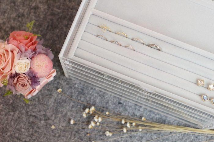 【MUJI無印良品】美好的飾品收納風景-壓克力五層抽屜+灰絨內盒