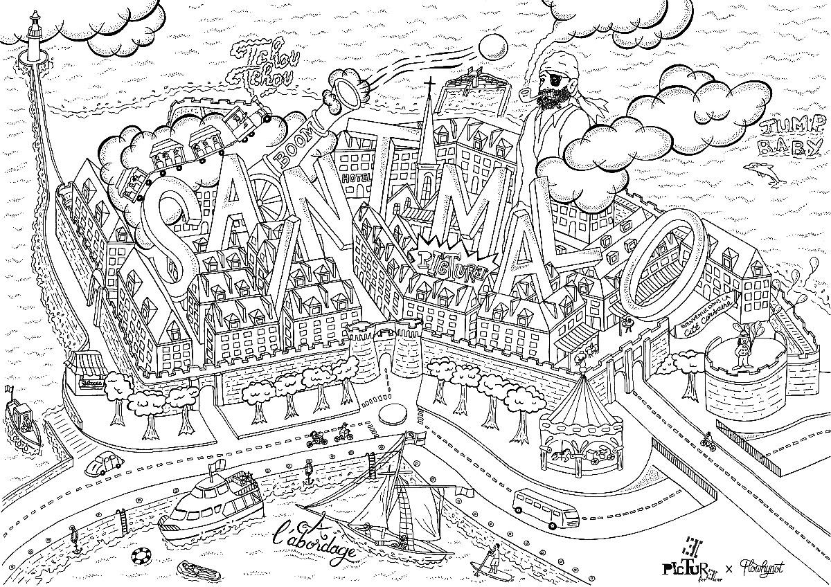 florent-beaufils-flowhynot-graphiste-illustrateur-bretagne-picture-forever-carte-coloriage-saint-malo