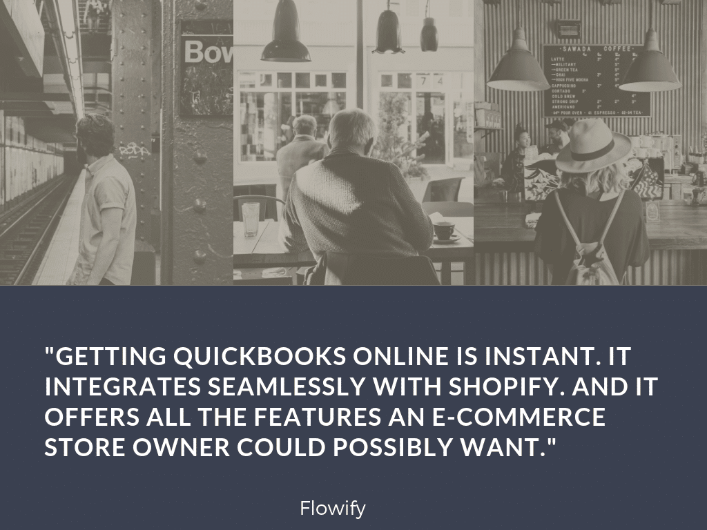 Flowify automatically integrates Shopify and Quickbooks