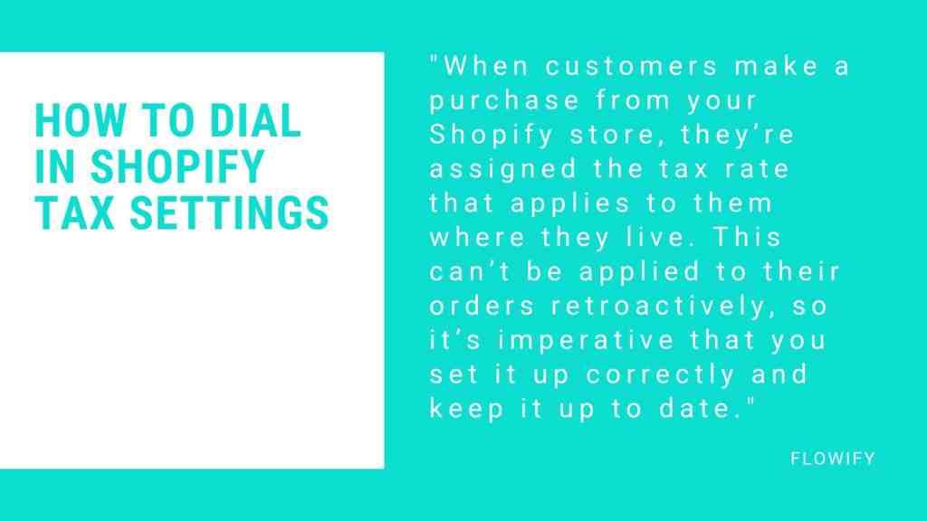 Shopify tax settings 2