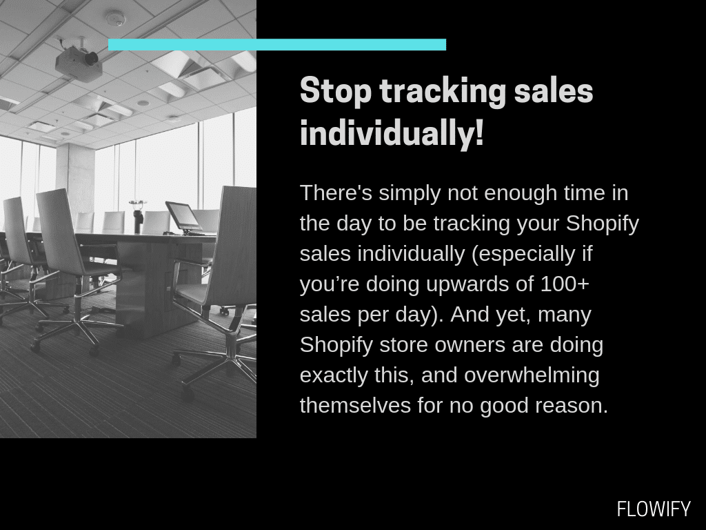 Shopify Tracking Sales
