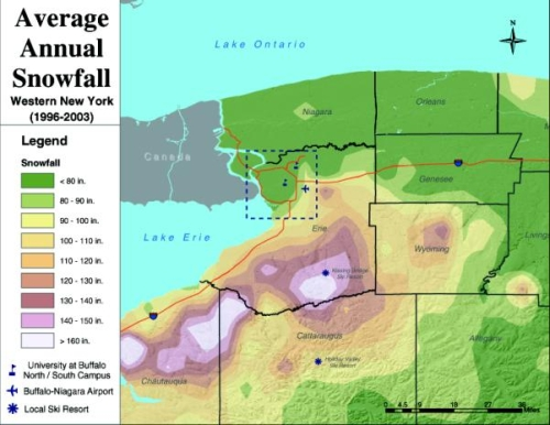 Western New York Average Snow Fall