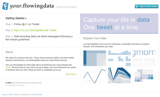 your.flowingdata Homepage