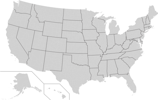 How to make a us county thematic map using free tools flowingdata blank us counties map in svg format sciox Choice Image