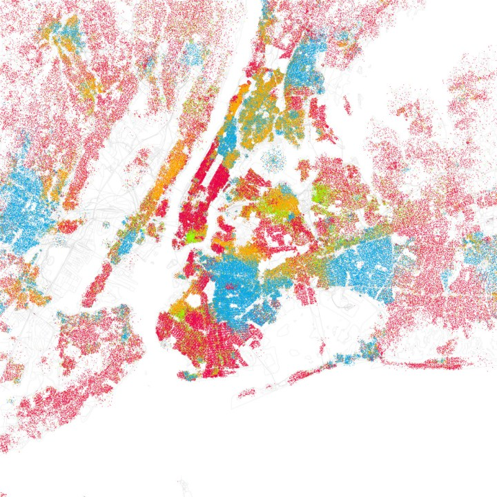 Race And Ethnicity Mapped By Block Flowingdata - Us-map-by-ethnicity