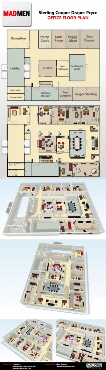 Mad Men Office mad men office floor plan | flowingdata